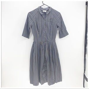 Vintage Post Road 50s fit and flare pleated dress